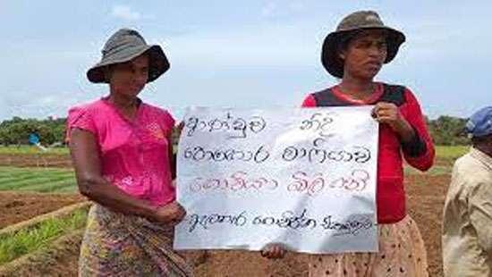 Farmers of Elahera Movement stages protest against fertiliser ban